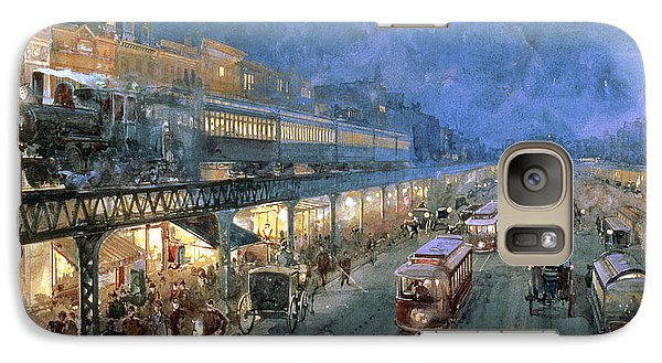 Train Galaxy S7 Case - The Bowery At Night by William Sonntag