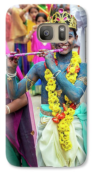 Galaxy Case featuring the photograph The Boy Krishna by Tim Gainey
