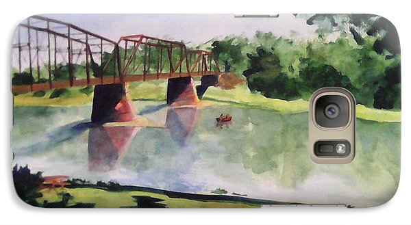 Galaxy Case featuring the painting The Bridge At Ft. Benton by Andrew Gillette