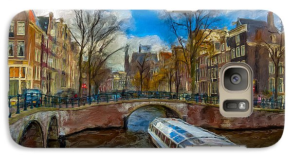 Galaxy Case featuring the photograph The Bridges Of Amsterdam by Juan Carlos Ferro Duque
