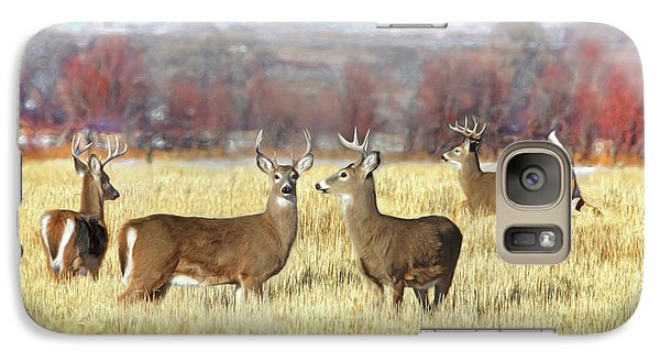 Galaxy Case featuring the photograph The Bucks Stop Here White-tail Deer  by Jennie Marie Schell