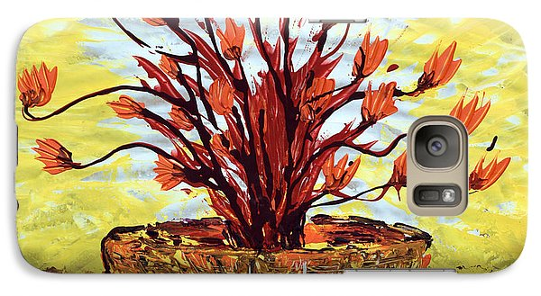 Galaxy Case featuring the painting The Burning Bush by J R Seymour