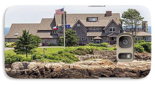 The Bush Compound Kennebunkport Maine Galaxy Case by Brian MacLean