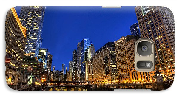 Galaxy Case featuring the photograph The Busy River In Chicago by Shawn Everhart