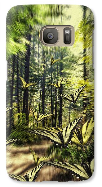 Galaxy Case featuring the photograph The Butterfly Migration Vortex by Diane Schuster