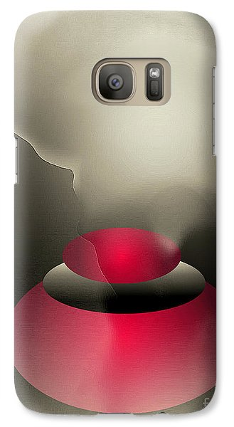 Galaxy Case featuring the digital art The Button--  Something To Think About by John Krakora