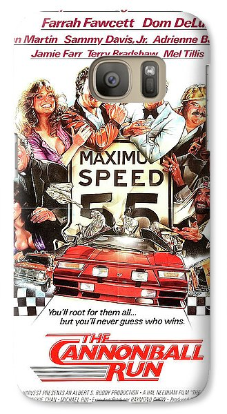 Roger Dean Galaxy S7 Case - The Cannonball Run Retro Movie Poster  by Retro Photography Archive