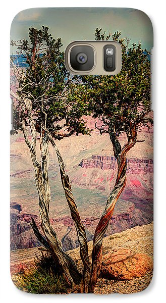 Galaxy Case featuring the photograph The Canyon Tree by Tom Prendergast