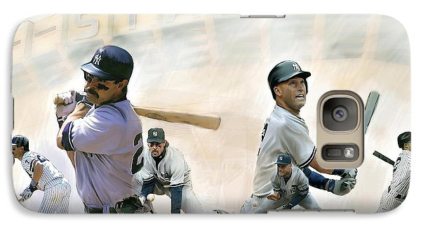 The Captains II Don Mattingly And Derek Jeter Galaxy S7 Case by Iconic Images Art Gallery David Pucciarelli