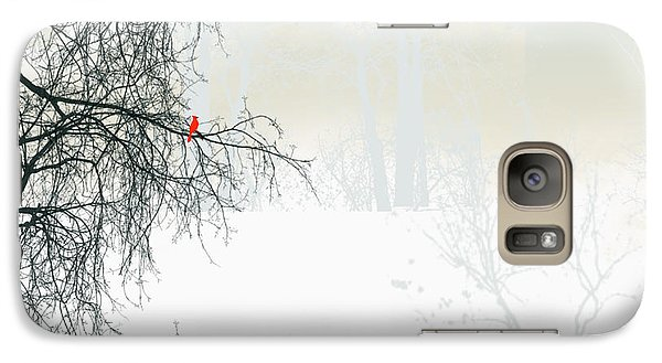 Galaxy Case featuring the digital art The Cardinal by Trilby Cole