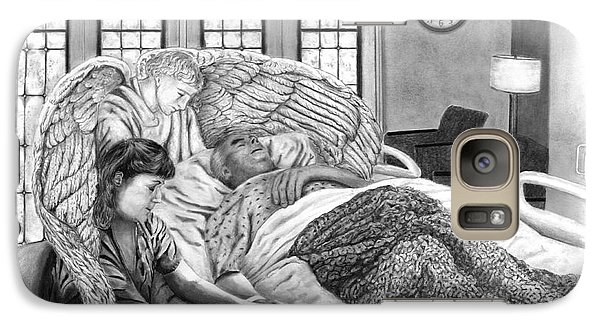 Galaxy Case featuring the drawing The Caregiver by Peter Piatt