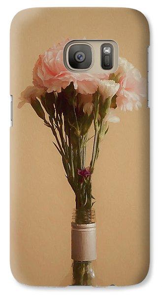 Galaxy Case featuring the digital art The Carnations by Ernie Echols