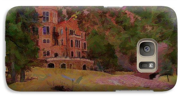 Galaxy Case featuring the digital art The Castle by Ernie Echols