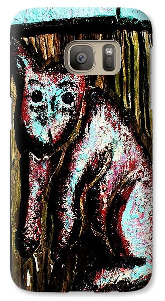 Galaxy Case featuring the photograph The Cat by John King