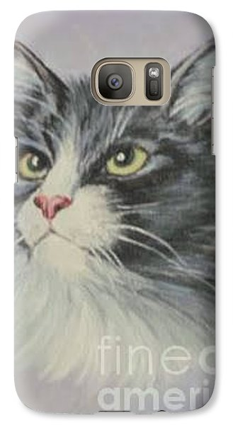 Galaxy Case featuring the painting The Cat by Sorin Apostolescu