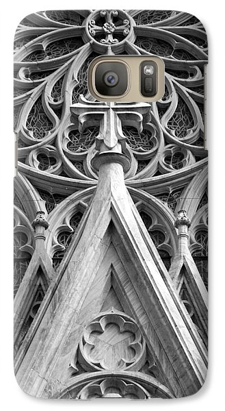Galaxy Case featuring the photograph The Cathedral Of St. Patrick Close Up by Michael Dorn