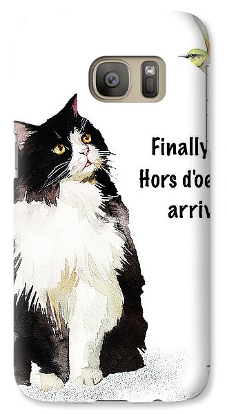 Galaxy Case featuring the painting The Cat's Hors D'oeuvres by Colleen Taylor