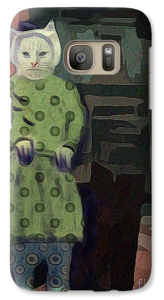 Galaxy Case featuring the digital art The Cat's Pajamas by Alexis Rotella