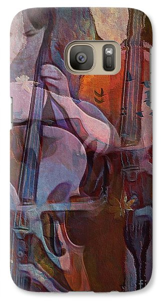 Galaxy Case featuring the digital art The Cellist by Alexis Rotella
