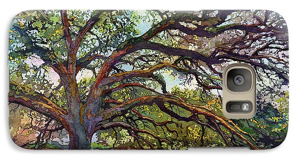 Galaxy Case featuring the painting The Century Oak by Hailey E Herrera