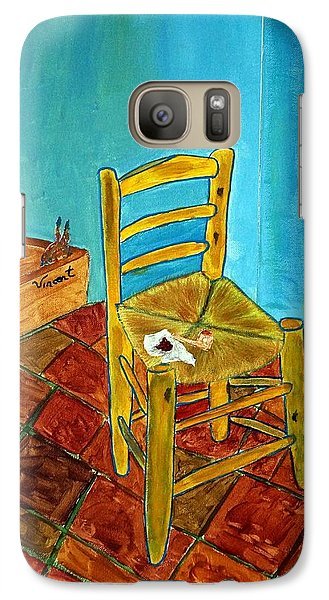 Galaxy Case featuring the photograph The Chair by Joseph Frank Baraba
