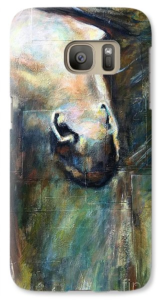Galaxy Case featuring the painting The Chameleon  by Frances Marino