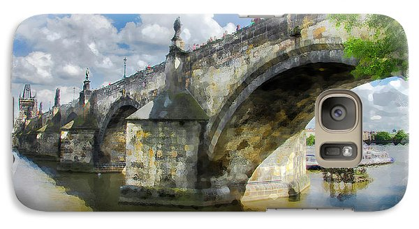 Galaxy Case featuring the photograph The Charles Bridge - Prague by Tom Cameron