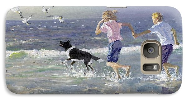 Seagull Galaxy S7 Case - The Chase by William Ireland