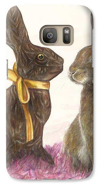 Galaxy Case featuring the drawing The Chocolate Imposter by Meagan  Visser