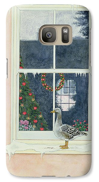 The Christmas Goose  Galaxy Case by Ditz