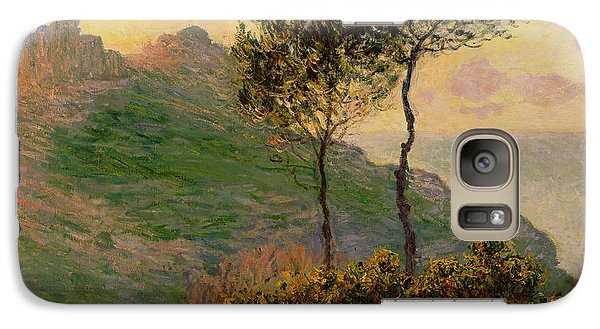 The Church At Varengeville Against The Sunlight Galaxy S7 Case by Claude Monet