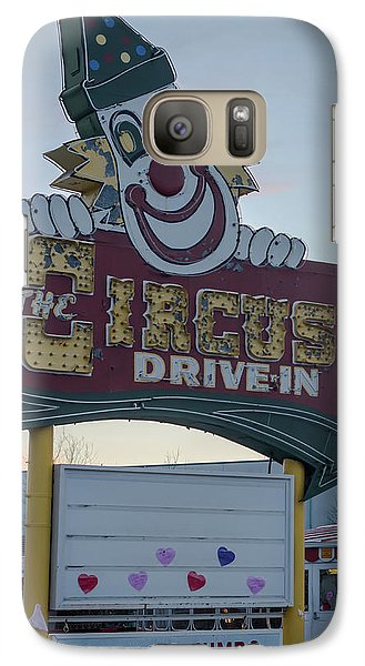 Galaxy Case featuring the photograph The Circus Drive In Sign Wall Township Nj by Terry DeLuco