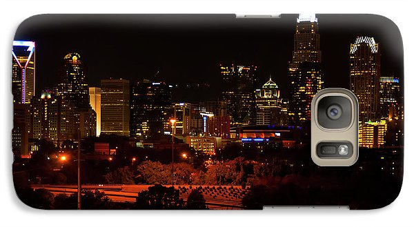 Galaxy Case featuring the digital art The City Of Charlotte Nc At Night by Chris Flees