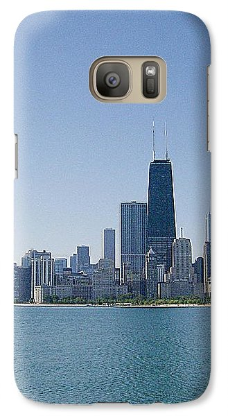 Galaxy Case featuring the photograph The City Of Chicago Across The Lake by Skyler Tipton