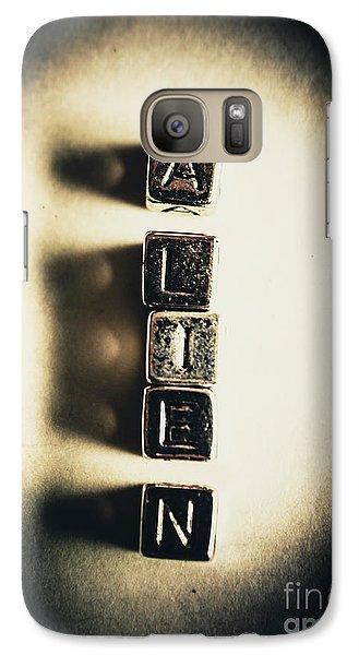London Tube Galaxy S7 Case - The Classified Alien Lie by Jorgo Photography - Wall Art Gallery