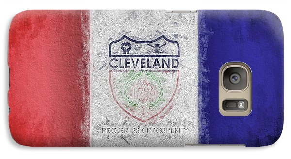 Galaxy S7 Case featuring the digital art The Cleveland City Flag by JC Findley