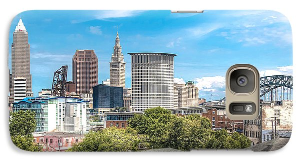 Galaxy Case featuring the photograph The Cleveland Skyline by Brent Durken