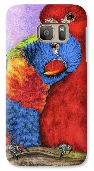 Parakeet Galaxy S7 Case - The Color Of Love by Sarah Batalka