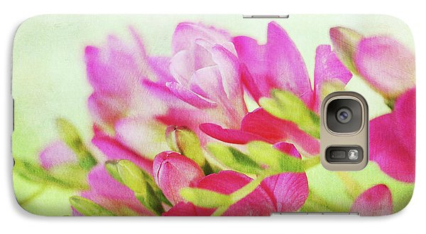 Galaxy Case featuring the photograph Colour Full Freesia by Connie Handscomb