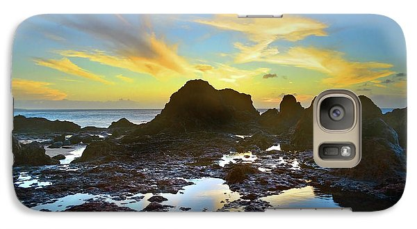 Galaxy Case featuring the photograph The Colours Amongst Sea, Sky And Stone by Tara Turner