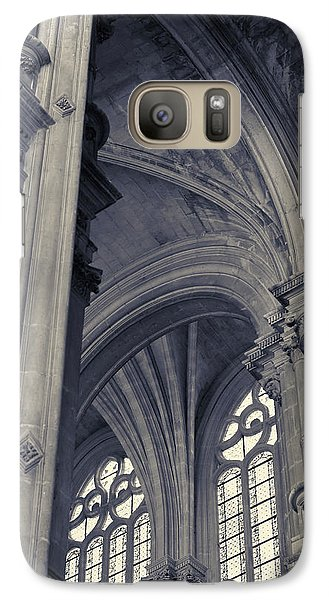 Galaxy Case featuring the photograph The Columns Of Saint-eustache, Paris, France. by Richard Goodrich