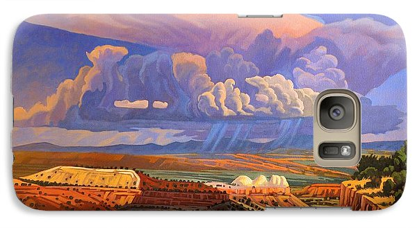 Galaxy Case featuring the painting The Commute by Art West