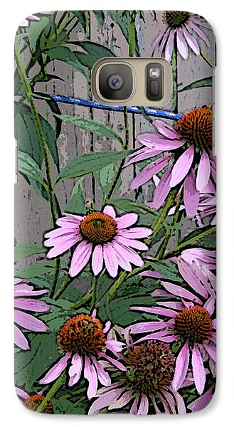Galaxy Case featuring the photograph The Coneflowers by Skyler Tipton