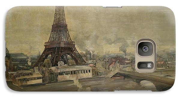 The Construction Of The Eiffel Tower Galaxy S7 Case by Paul Louis Delance