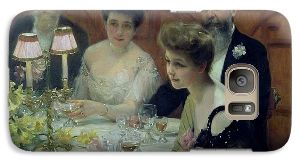 The Corner Of The Table Galaxy Case by Paul Chabas