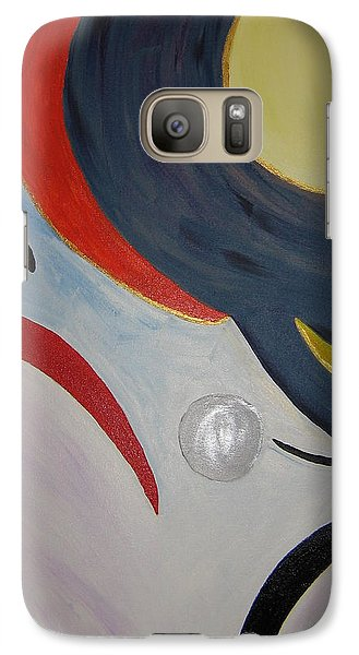 Galaxy Case featuring the painting The Cosmos by Barbara Yearty