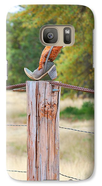 Galaxy Case featuring the photograph The Cowboy Boot by Donna Greene