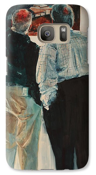 Galaxy Case featuring the painting The Critique II by Elizabeth Carr