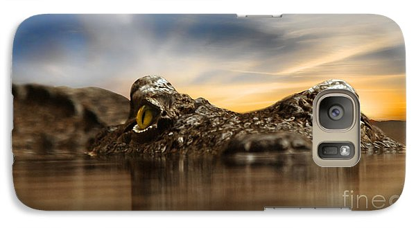 Galaxy Case featuring the photograph The Crocodile by Christine Sponchia