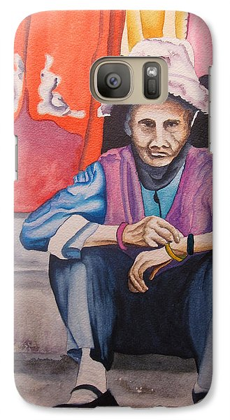 Galaxy Case featuring the painting The Crone by Teresa Beyer